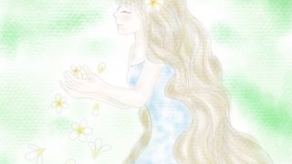 プルメリアの乙女|Procreate|パステル調