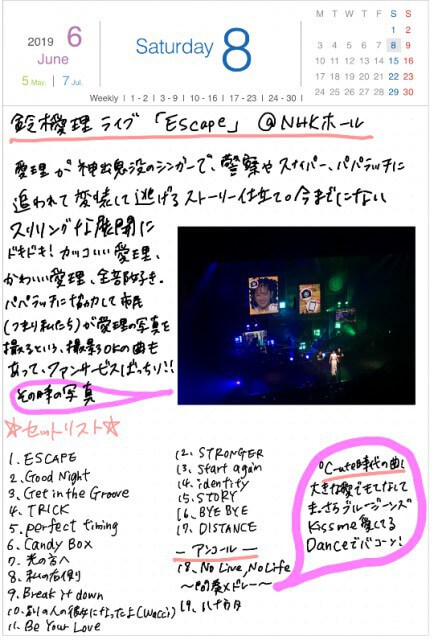 190608|鈴木愛理ライブ記録|GoodNotes5