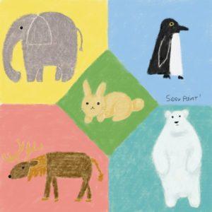 クレヨンの国の動物たち|Procreate